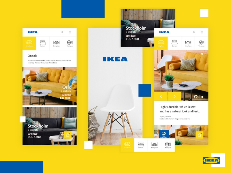 IKEA App Redesign graphic design interior ecommerce furniture web mobile website landing page app web design ux ui identity design branding
