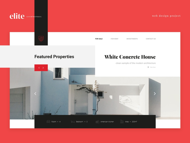 Elite Property | Landing Page adobe xd red flat black graphic design ecommerce clean minimal mobile website logo landing page app web design ux ui web identity design branding