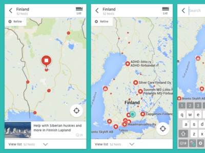 Android Map Search Interface