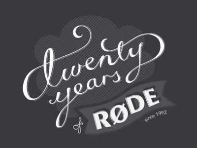 Twenty years of Rode