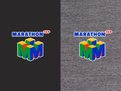 1 Up Marathon Logo Tee