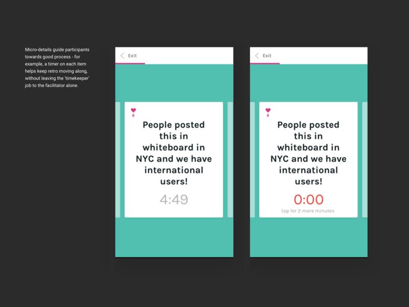 Postfacto, the retrospective app design uidesign agile retrospective turquoise teal product design ui ui  ux mobile ui cards responsive web design mobile design mobile app mobile web