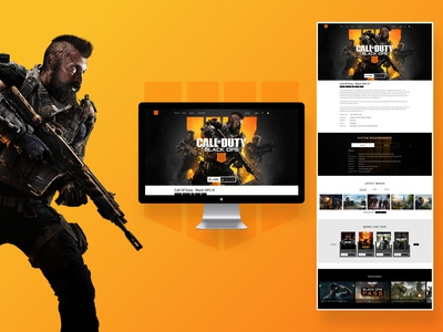 Call Of Duty - Landing Page