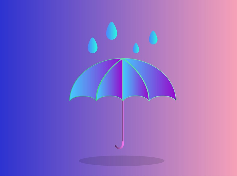 Umbrella design photoshop illustration