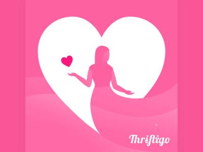 Valentine's Day Visual for Thriftigo social media ui flat icon love valentines day valentines valentine branding visual illustration vector design