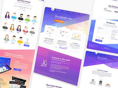 Juicymo Website Redesign uiux ui design icon design icon set avatar icons avatars team colorful webdesign fun ux branding typography ui icon visual illustration vector design