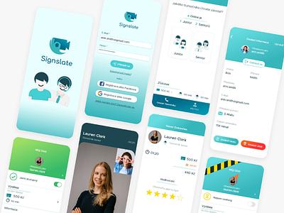 Signslate App Design user interface ux design ios app design uidesign uiux design app