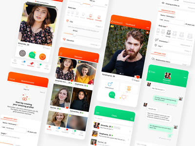 MeetYou Dating App Design uiux modern line userinterface cute fun heart graphic design dating app colorful icon design ux app design typography app icon ui visual vector design