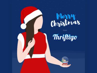 Christmas Visual for Thriftigo visual christmas design vector illustration