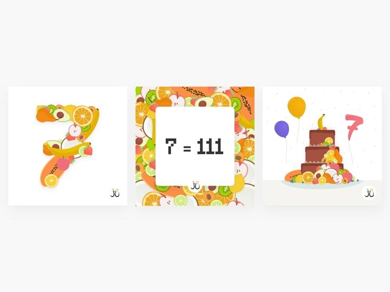 Birthday Visual for Juicymo fruity fruit birthday visual illustration vector design