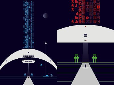 Data Gate arecibo dna alien science fiction fiction science sci-fi future technology tech gate data