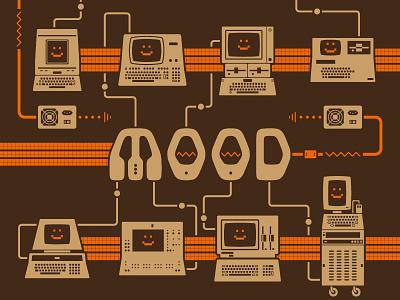 Current Mood (detail) cute happy pun xerox nec commodore ferranti apple retrofuturism retro computers old computers