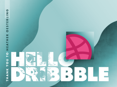 Hello Dribbble meow thank you photoshop cat debut