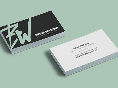Personal Business Cards mockup freelance personal business card