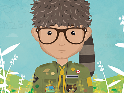 Sam Shakusky moonrise kingdom illustration sam shakusky vector debut