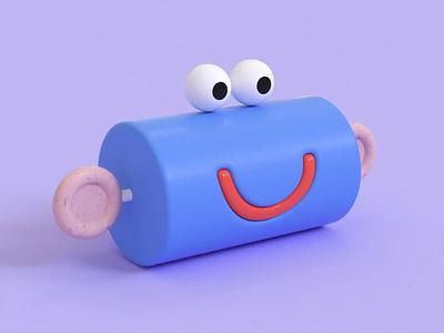 Cylinder Fren 3d art 3d illustration 3d character animation character design character motion aftereffects animation cinema 4d c4d