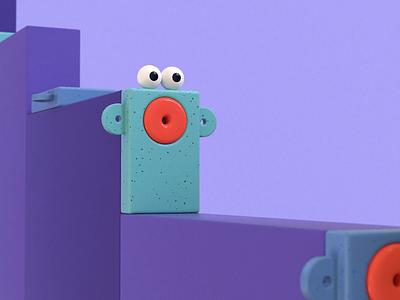 Rectangle fren c4d cinema 4d animation aftereffects motion character character design character animation 3d 3d illustration 3d art