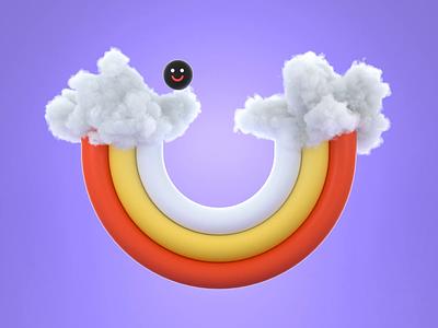 Rainbow Halfpipe rainbow animated loop aftereffects 3d animation 3d illustration 3d art c4d seamless loop octane render