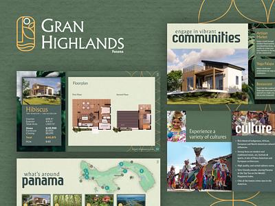 Gran Highlands Brochure tiny house tiny homes panama viewbook booklet branding ux ui real estate brochure real estate marketing real estate