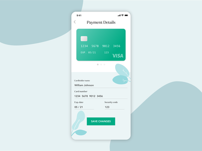 Daily UI 02: Payment Details Page