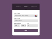 #002 Credit Card Checkout - Daily UI Design Challenge