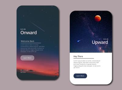 Onward & Upward stars cosmic space ui app design