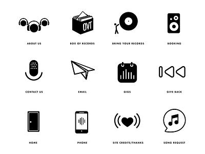On Vinyl Tonight Icon design art illustrator minimal flat animation icon vector design logo illustration