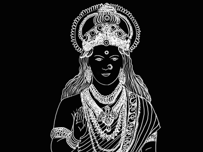 Janaki photoshop ramayan mythology black and white