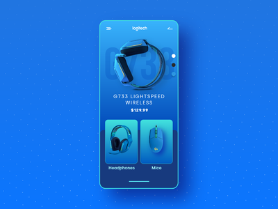 Logitech Product Marketing Concept gradient clean headphones app ui ui app product