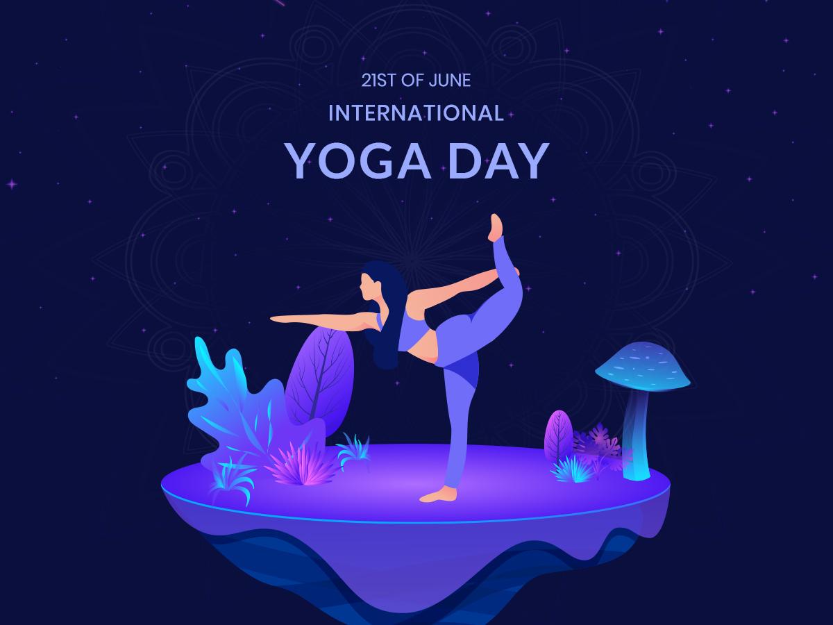 international yoga day identity digital illustration digital art branding vector trend 2019 poster design yoga day international yoga illustration art artwork illustration