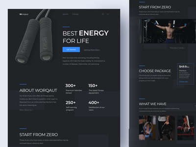 Fitness Website Homepage Preview protopie homepage fitness app fitness fitness webdesign