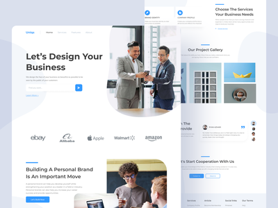 Uniqs Digotal Agency Website digital agency homepage exploration header hero image landing page