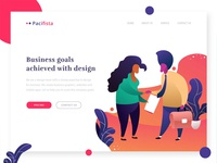 Exploration : Header Illustration for design service website