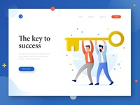 Header illustration for entrepreneur theme website