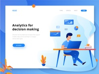 Exploration : Header Illustration for analytics website