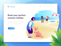 Exploration : Header Illustration for summer holiday website