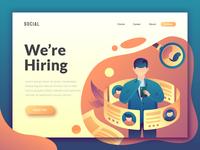 illustration for job vacancy website