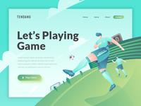 header illustration for soccer website