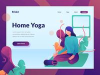 animated hero for yoga website