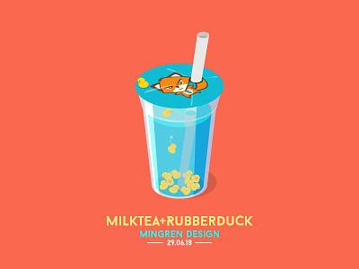 Milktea+Rubberduck Design mingren ui icon rubberduck milktea illustration