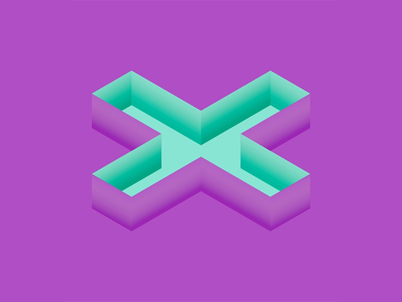 36 Days of Type: X illustrator illustration design isometric 3d typography type lettering letter 36days-x 36daysoftype