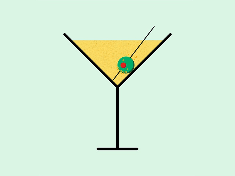 36 Days of Type: Y illustrator design illustration texture cocktail martini lettering letter typography type 36days-y 36daysoftype
