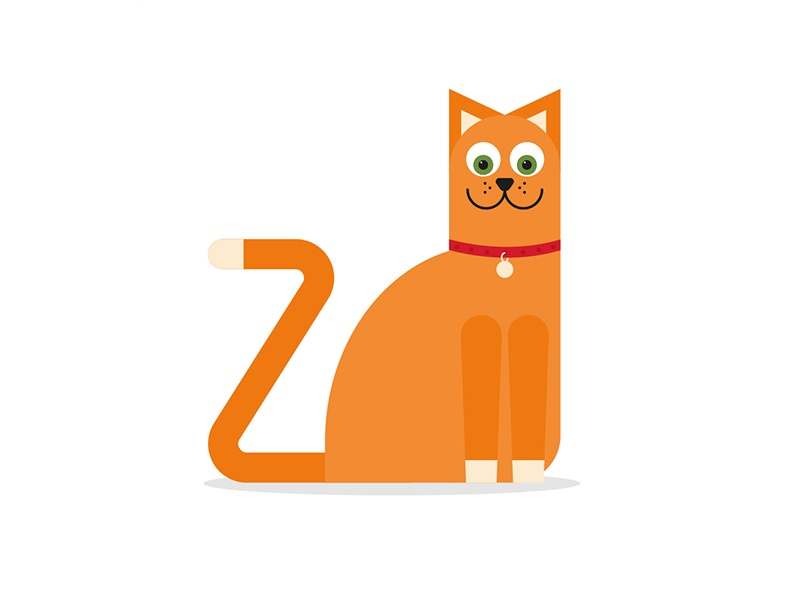 36 Days of Type: Z design illustrator illustration animals character cat lettering letter typeface type 36days-z 36daysoftype
