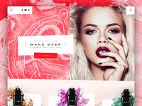 INI Makeup Website Concept