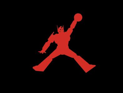 Air Prime basketball optimus prime transformers jordan vector icon branding logo flat design graphic  design