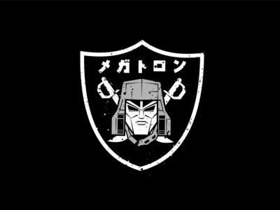 Megatron - NFL Logo megatron transformers black character typography minimal logo illustration vector design graphic  design