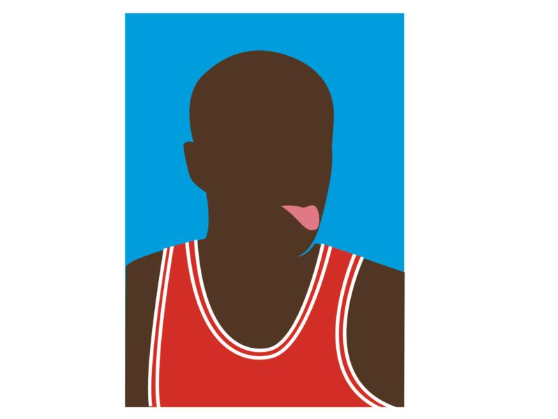 Michael Jordan - Portrait icon portrait basketball jordan michael jordan graphic  design vector flat minimal illustration