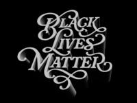 Black Lives Matter icon black and white 3d usa blacklivesmatter typography branding vector graphic  design