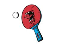 Screaming Ping Pong Bat sports bat table tennis pingpong graphic  design illustration