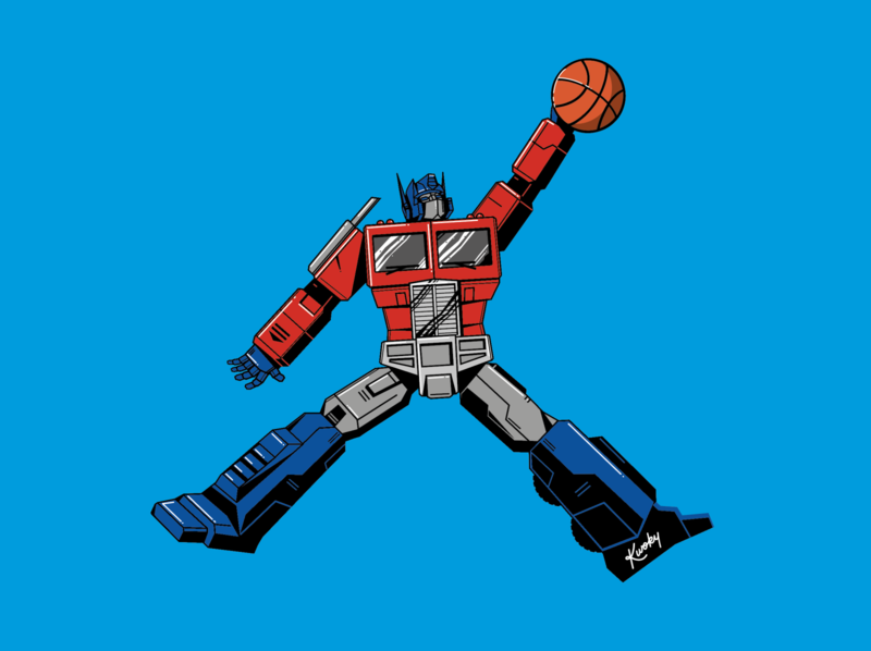 Air Prime vector jordan jumpman illustration basketball robots autobot optimus prime transformers